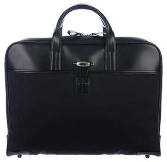 Montblanc Leather-Trimmed Woven Briefcase