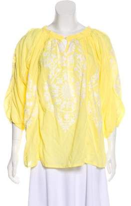 Melissa Odabash Embroidered Tunic Top