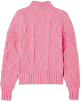 J.Crew Tucker Cable-knit Cotton-blend Sweater - Pink