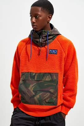 Polo Ralph Lauren Hybrid Colorblock Fleece Hoodie Sweatshirt