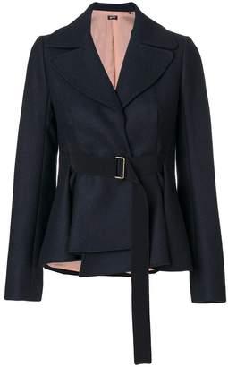 Jil Sander Navy belted fitted jacket