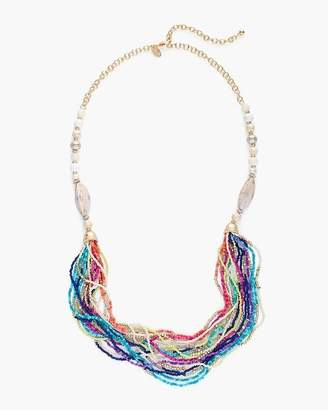 Multi-Colored Seed Bead Necklace