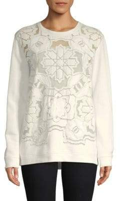 Roberto Cavalli Mesh Front Cotton Sweatshirt
