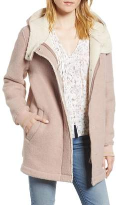 BCBGeneration Cozy Wool & Fleece Coat