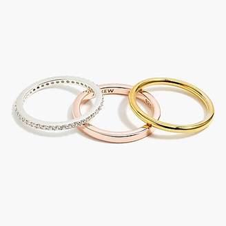 J.Crew Demi-fine 14k gold-plated three-ring set