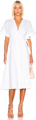 Equipment Nauman Dress in White   FWRD
