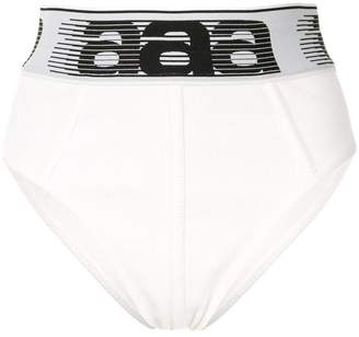 Alexander Wang athletic logo waistband shorts