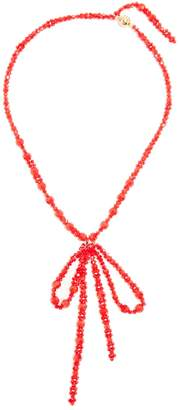 Simone Rocha Bow-pendant beaded necklace