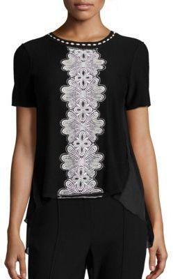 Elie Tahari Raquel Pleated Back Sweater $298 thestylecure.com