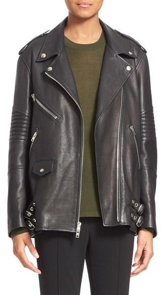 Alexander WangWomen's Alexander Wang Leather Moto Jacket