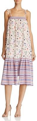 AQUA Mixed Print Boho Dress - 100% Exclusive $88 thestylecure.com