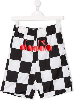 Diadora Junior checkered shorts
