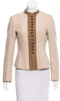 Beretta Collarless Virgin Wool Jacket