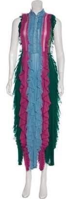 Gucci 2016 Silk Pleated Dress