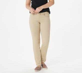 NYDJ Marilyn Color Straight Jeans -Straw