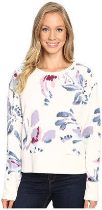 Life is good Abstract Floral Go-To Crew $48 thestylecure.com
