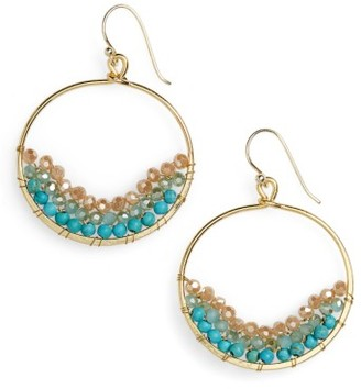 Women's Panacea Beaded Circle Earrings $24 thestylecure.com