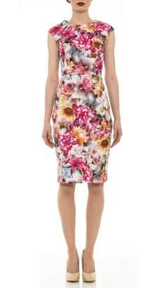 Alexia Admor Floral Cap-Sleeve Dress
