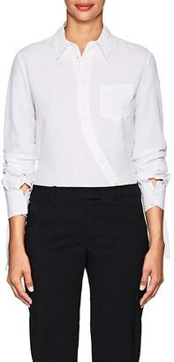 Altuzarra Women's Garcia Asymmetric-Placket Cady Blouse