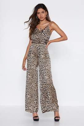 Nasty Gal What's Up Pussy Cat Leopard Jumpsuit