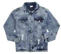 F&F Distressed Denim Jacket 6-7 years