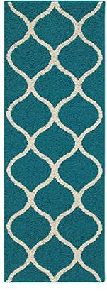Maples Rugs Runner Rug - Rebecca 1'9 x 5' Non Skid Hallway Carpet Entry Rugs Runners [Made in USA] for Kitchen and Entryway