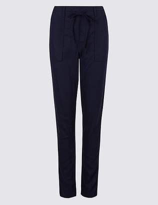 Marks and Spencer Linen Rich Peg Trousers