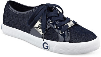 G by Guess Byrone Quilted Lace-Up Sneakers Women's Shoes $59 thestylecure.com