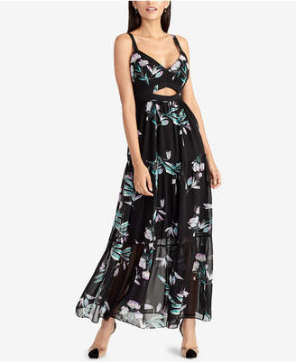 Rachel Roy Printed Cutout Maxi Dress