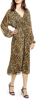 WAYF Gabrielle Leopard Print Dress
