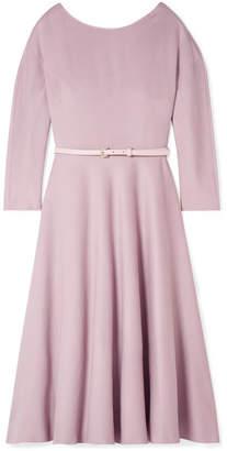 Max Mara Biavo Belted Camel Hair Midi Dress - Pink