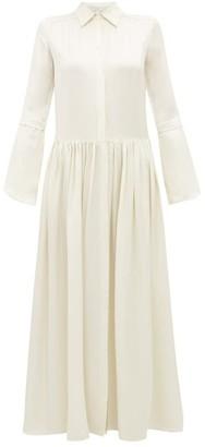 story. White Lucy Satin Maxi Dress - Womens - Ivory
