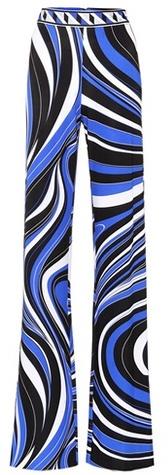 Emilio Pucci Printed crêpe trousers