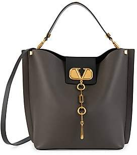 Valentino Garavani Women's V-Logo Escape Pebbled Leather Hobo Bag