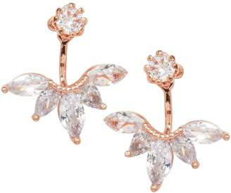 Cezanne Rose Goldtone Crystal Earrings