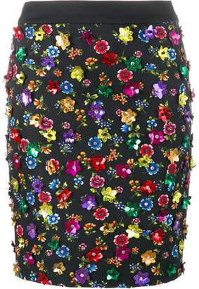 Moschino floral embellished skirt