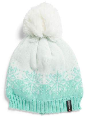 Snowflake 2 Tone Pom Pom Hat