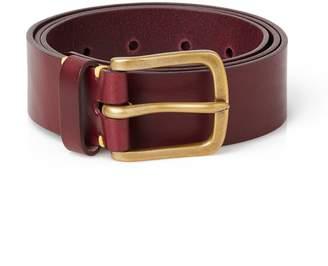 Awling - Handmade Original Leather Belt Oxblood and Brass