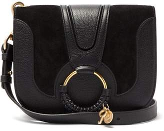 See by Chloe Hana Small Suede And Leather Cross Body Bag - Womens - Black