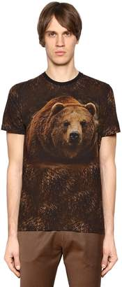Etro Bear Printed Cotton Jersey T-Shirt