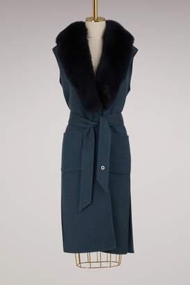Loro Piana Fox Fur and Cashmere Cape