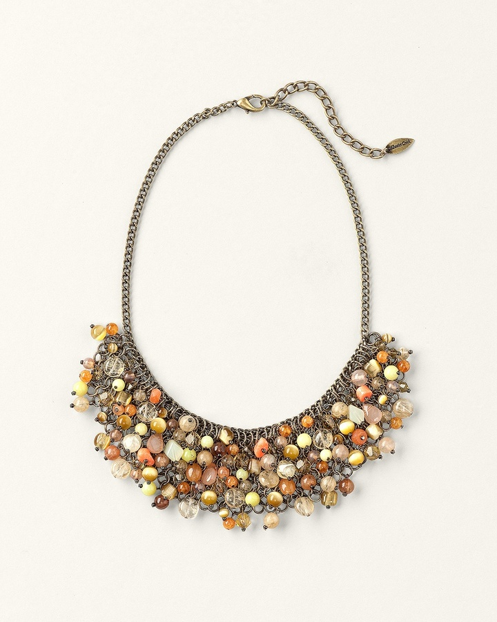 Coldwater Creek Bead collage necklace