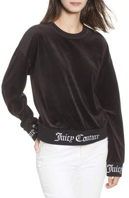 Juicy Couture Logo Graphic Velour Pullover