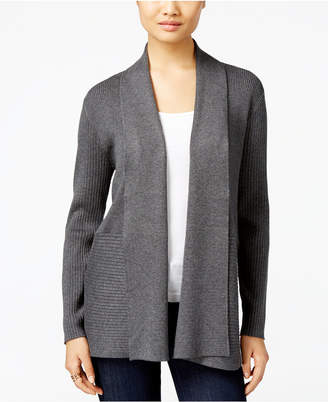 Jm Collection Ribbed Open-Front Cardigan, Created for Macy's $59.50 thestylecure.com