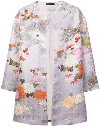Josie Natori jacquard long jacket
