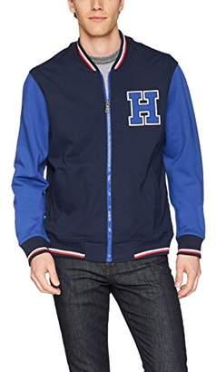 Tommy Hilfiger Men's Retro Varsity Bomber Colorblock Track Jacket