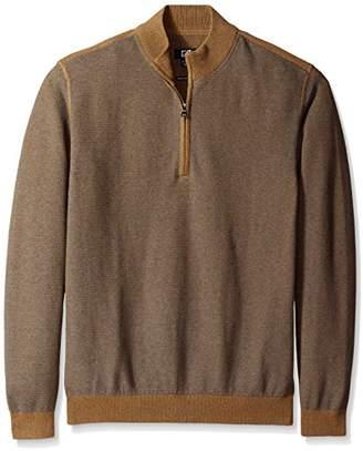 Cutter & Buck Men's Big-Tall Twin Falls Half Zip Sweater