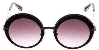 Jimmy Choo Round Gradient Sunglasses