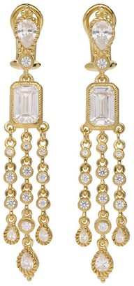 Judith Ripka 14K Clad Diamonique Dangle Earrings