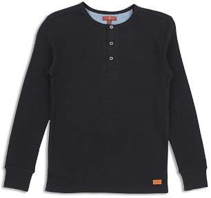 7 For All Mankind Boys' Thermal Henley Tee - Big Kid